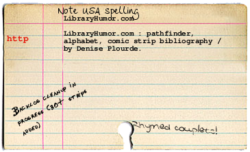 catalog card for libraryhumor.com